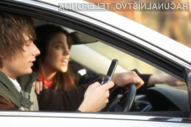 Slovenska policija bo januarja pozorna na voznike, ki med vožnjo uporabljajo mobilne telefone.
