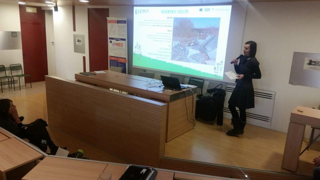 Predstavitev projekta E-cikliraj v Italiji
