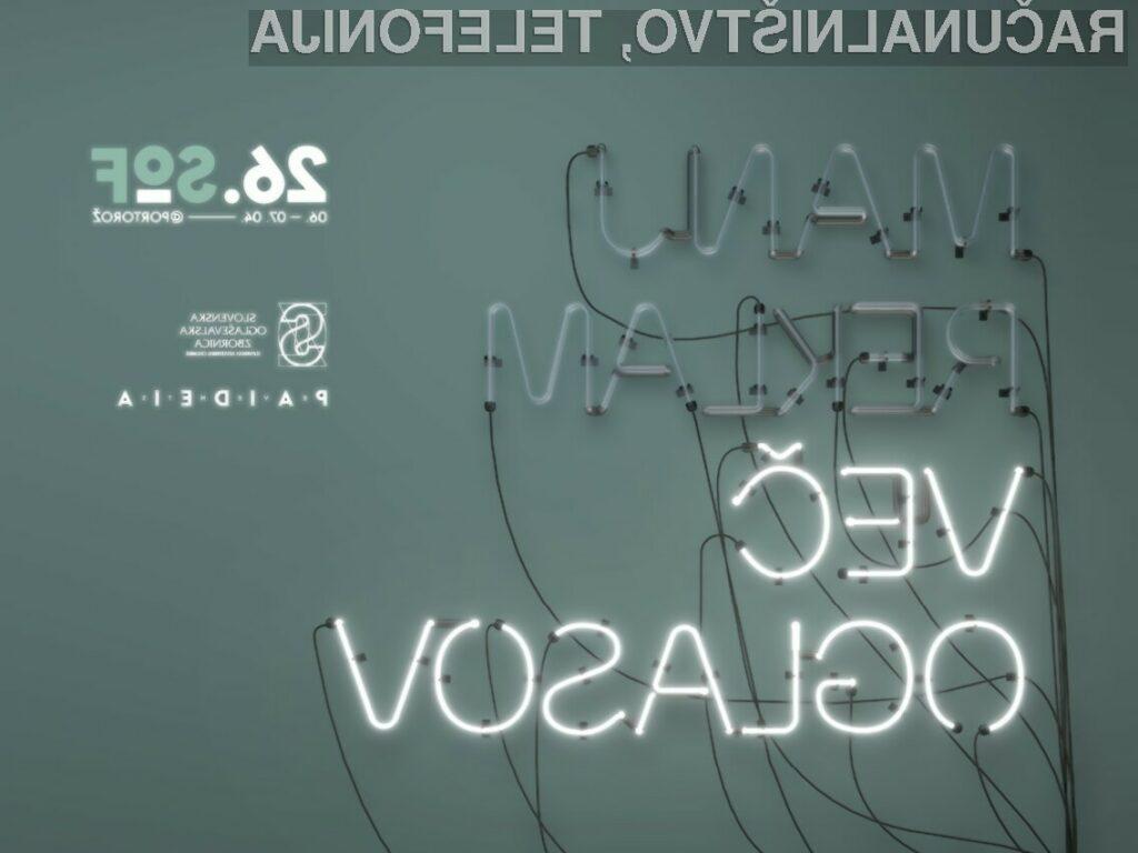 26. Slovenski oglaševalski festival: Manj reklam, več oglasov!