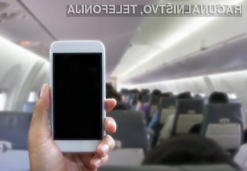 V zapor zaradi uporabe telefona na letalu