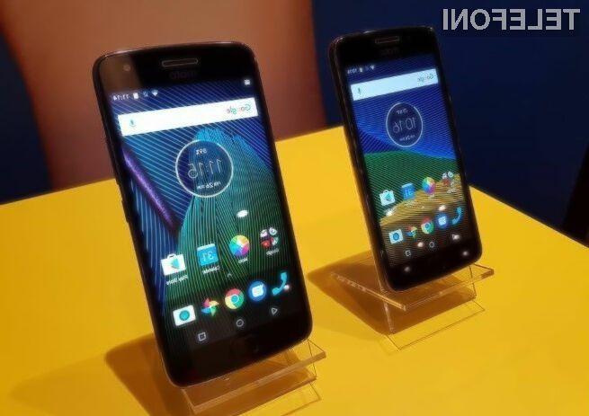 Pametna mobilna telefona Motorola Moto G5 in Moto G5 Plus za malo denarja ponujata veliko!