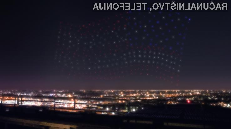 Na letošnjem Super Bowlu z Lady Gaga nastopilo 300 dronov