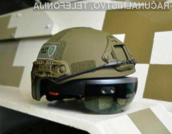 Futuristična ukrajinska vojaška čelada z očali HoloLens