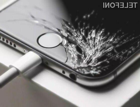 Apple ima ekskluzivno pravico nad programom, ki bi uporabnike mobilnih telefonov obveščal o poškodovanih zaslonih!