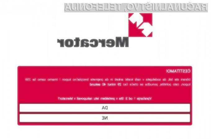 Pazite se prevare z Mercatorjevimi kuponi
