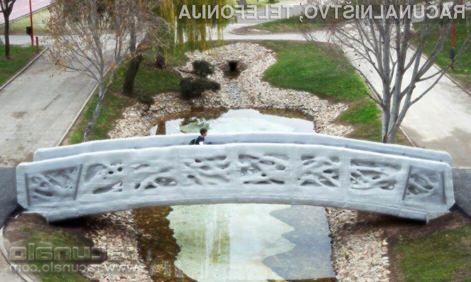 Natisnjen most ni ravno lepe oblike, je pa uporaben!