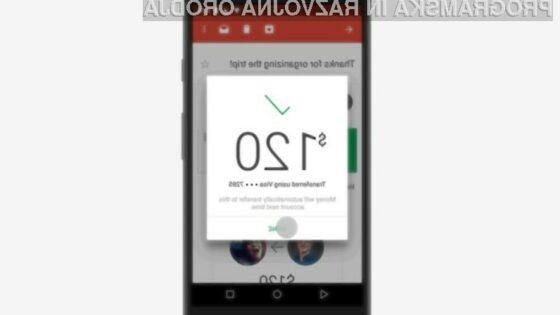 Odslej lahko preko Gmaila pošiljamo tudi denar