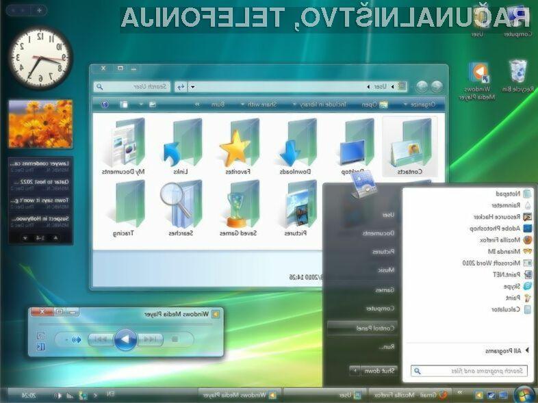 Če še vedno uporabljate operacijski sistem Windows Vista, ga morate nujno nadgraditi pred 11. aprilom letos!