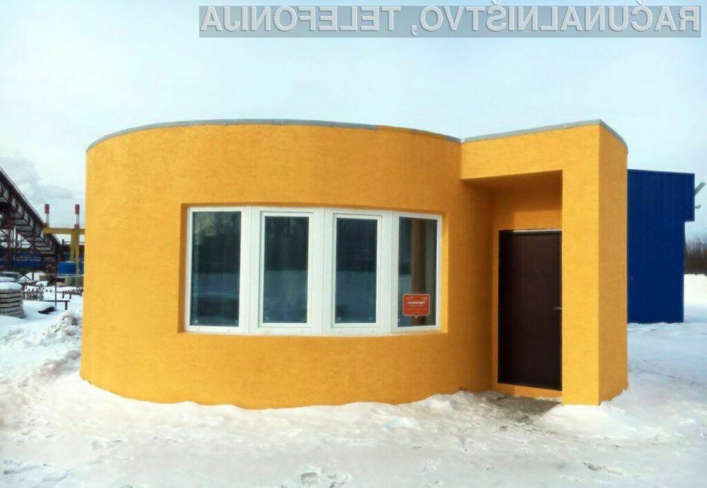 3D hiša natisnjena v vsega 24 urah