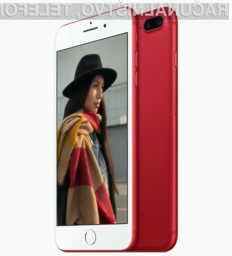 Z nakupom rdeče obarvanega pametnega mobilnega telefona iPhone boste prispevali sredstva za boj proti bolezni AIDS.