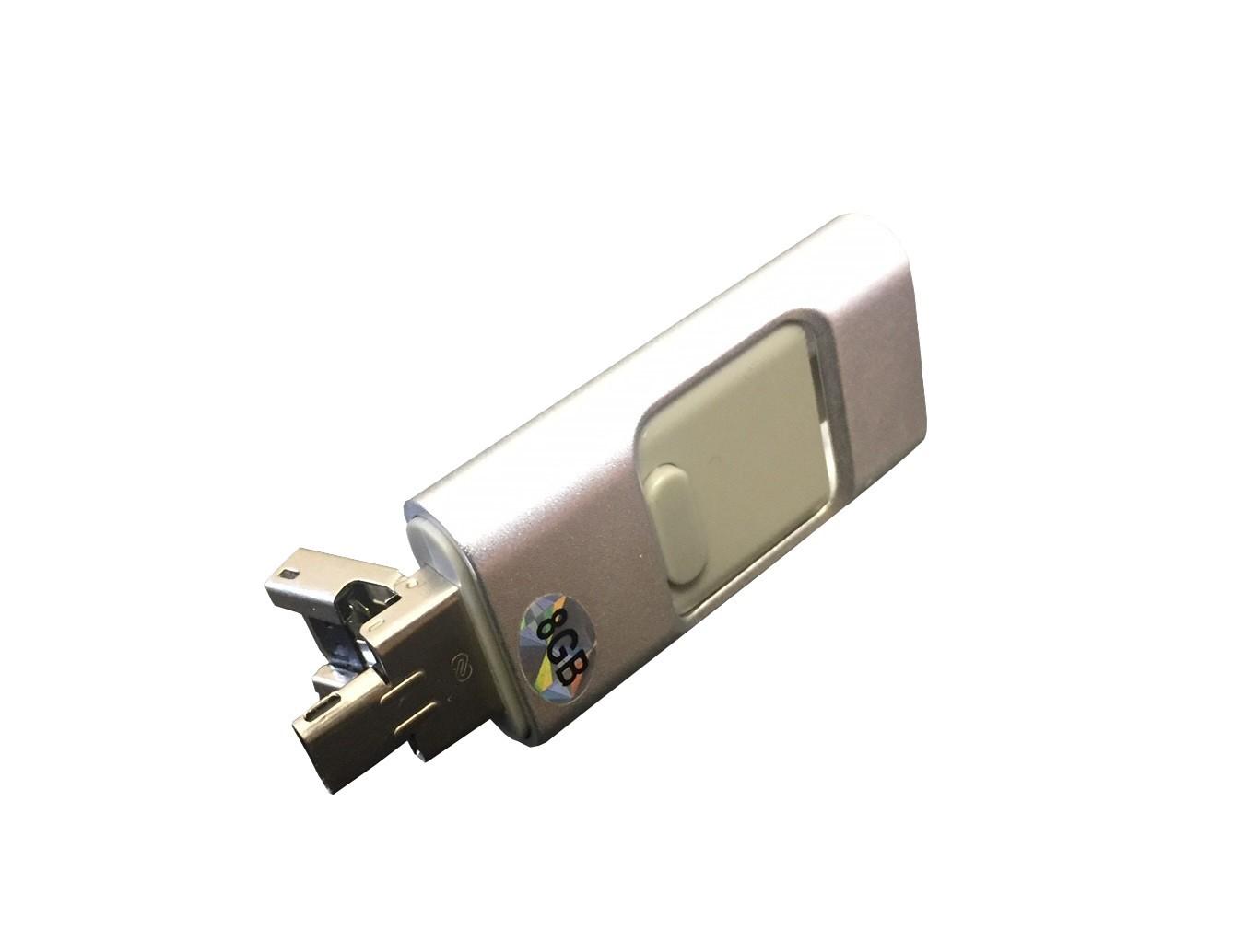 OTG (on-the-go) USB ključki s pomočjo OTG standarda omogočajo mobilnim napravam, da med seboj komunicirajo brez uporabe računalnika.