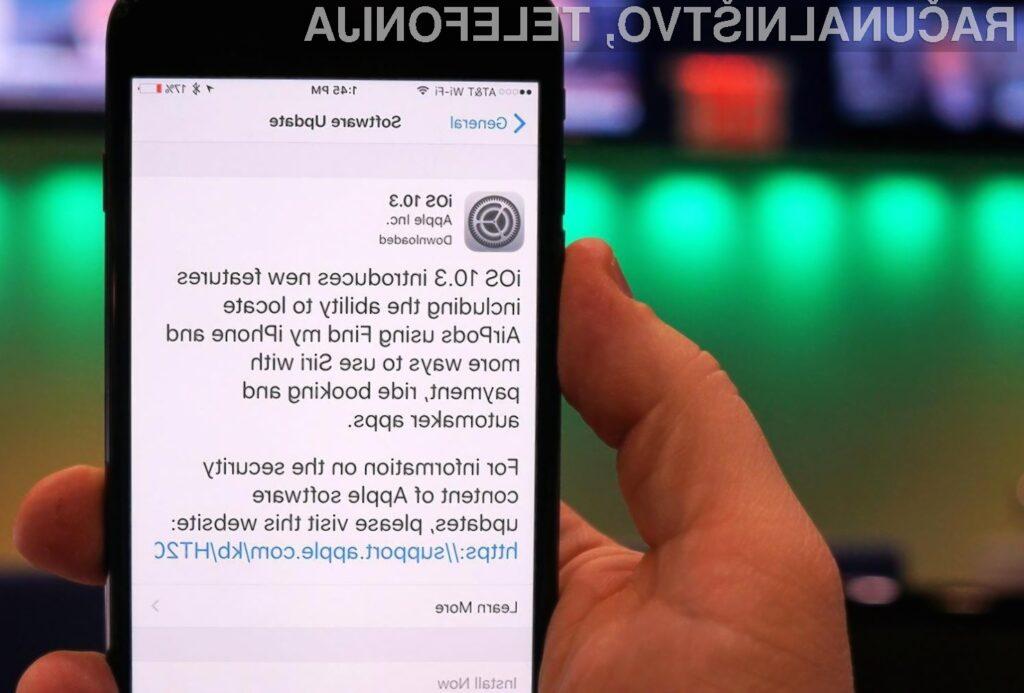 Uporabniki pametnih mobilnih telefonov iPhone 5 in iPhone 5C bi lahko kmalu ostali brez posodobitev mobilnega operacijskega sistema iOS.