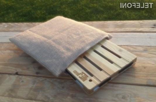 Ohišje za tablične računalnike izdelano iz lesa iPallet4 je tako okolju prijazno kot zanimivo na pogled!