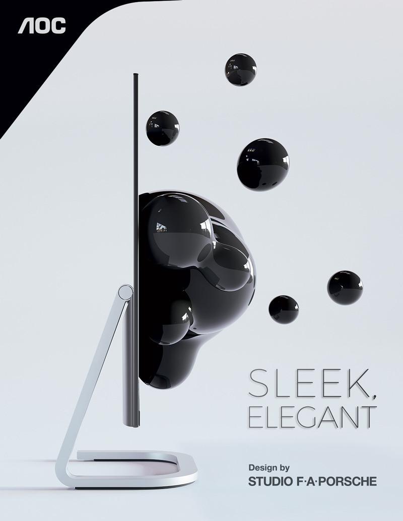 Tanek & eleganten. Z debelino 5,2 mm je najnovejši AOC monitor PDS241 tanjši od vašega pametnega telefona