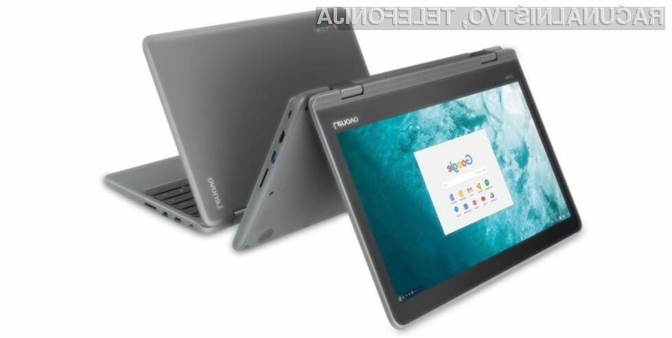 Prenosnik 2-v-1 Lenovo Flex 11 Chromebook nas bo na račun uporabnosti zagotovo takoj prevzel.