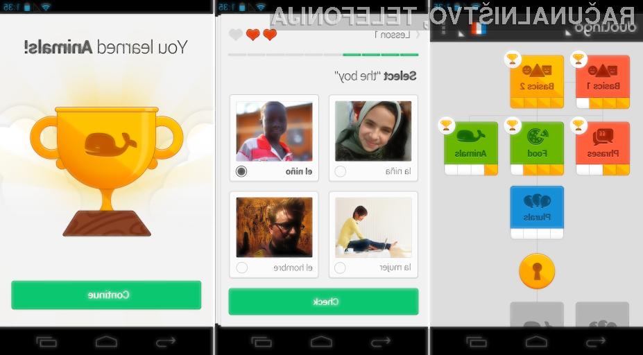Duolingo je ena boljših aplikacij za mobilno učenje tujih jezikov!