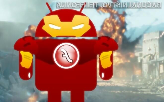 Lažno in plačljivo posodobitev Flash Player je preneslo med 100 tisoč in 500 tisoč uporabnikov mobilnih naprav Android.