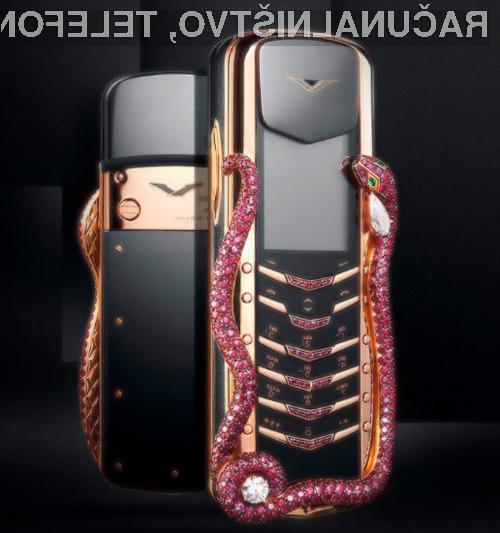 Za prestižni telefon Vertu Cobra Limited Edition bo treba odšteti kar 320 tisoč evrov.