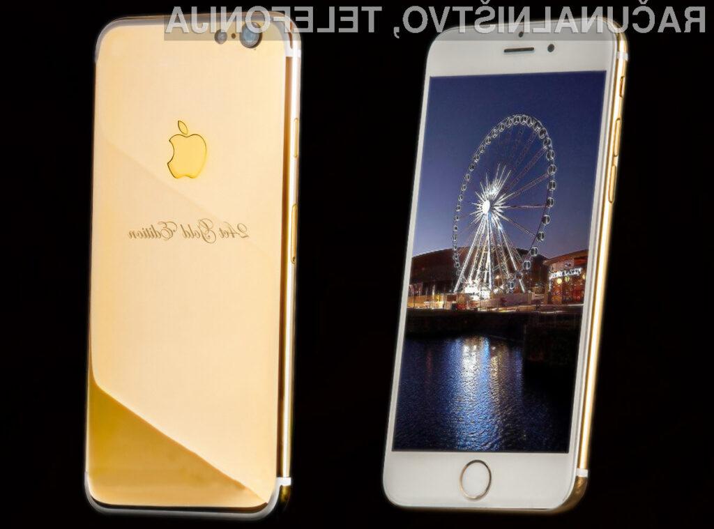 iPhone 7 iz čistega 24-karatnega zlata