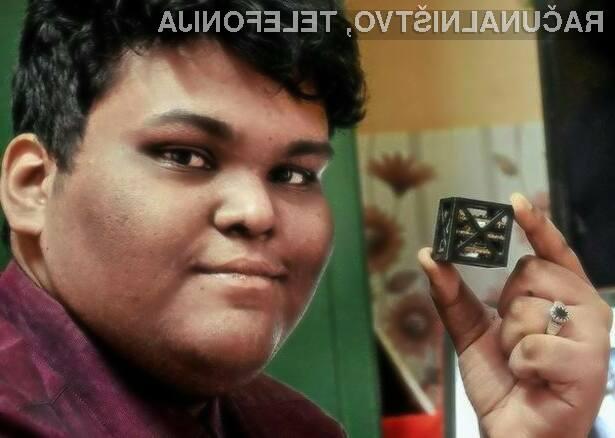 Najstnik sestavil najmanjši satelit na svetu