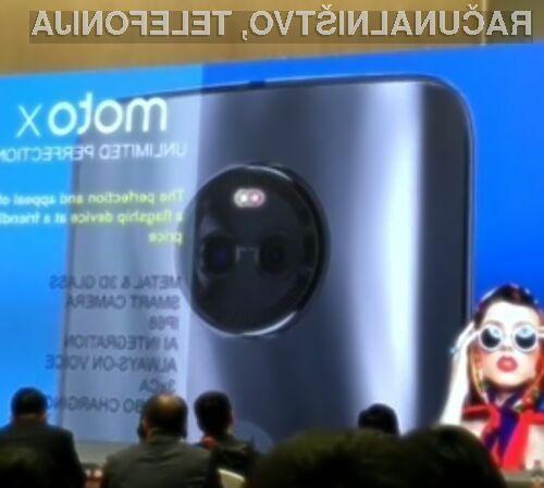 Pametni mobilni telefon Lenovo Moto X (2017) bo zagotovo primeren za vsako opravilo!