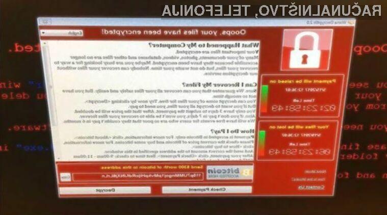 Z izsiljevalsko škodljivo programsko kodo WannaCry se je okužilo zdaleč največ uporabnikov operacijskega sistema Windows 7.