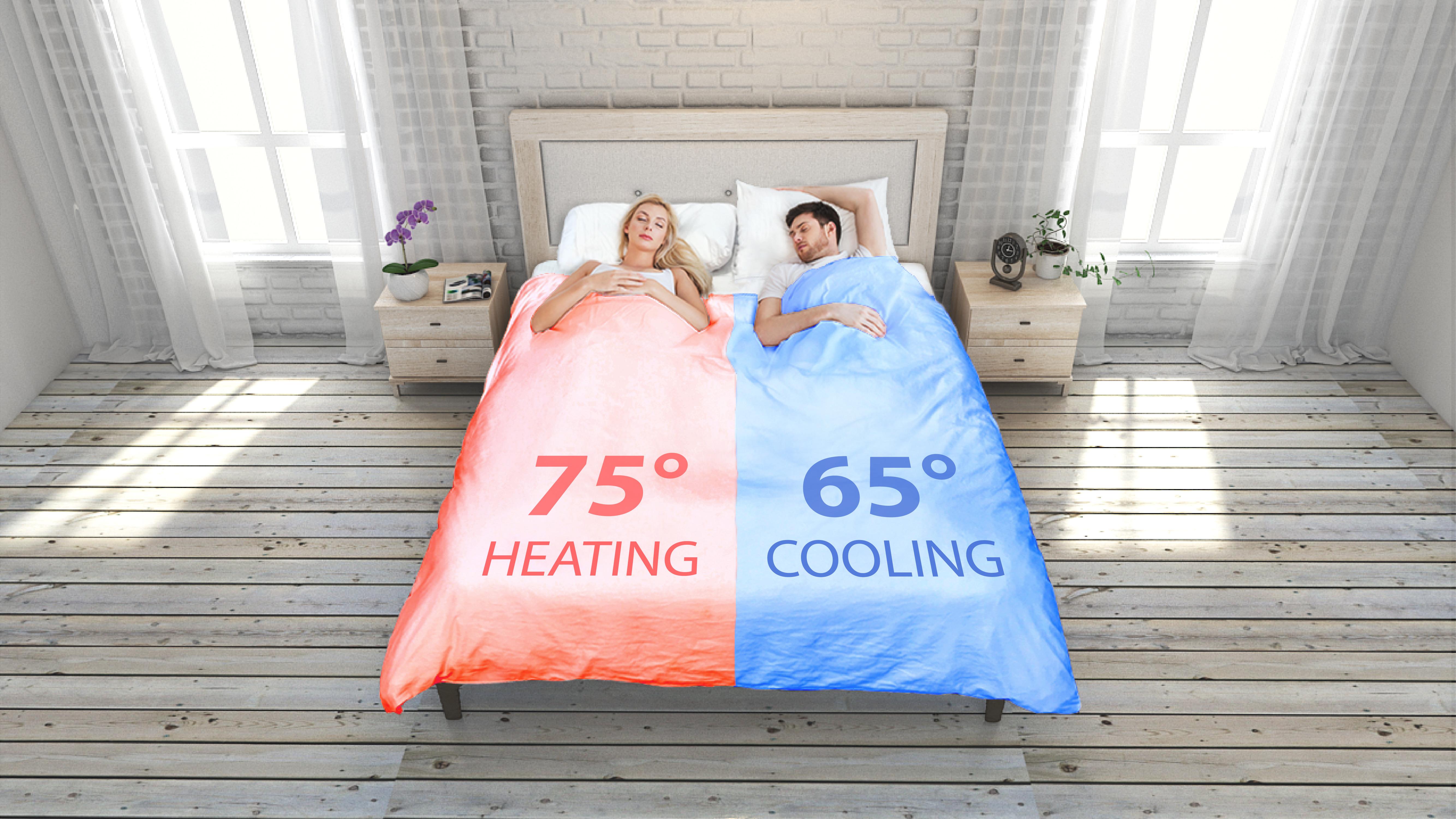 S pametno odejo Smartduvet Breeze si bomo lahko temperaturo prilagajali našim potrebam.