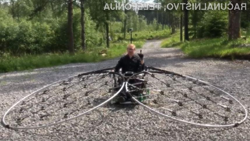 Švedski inženir Axel Borg je zasnoval povsem delujoče leteče vozilo.
