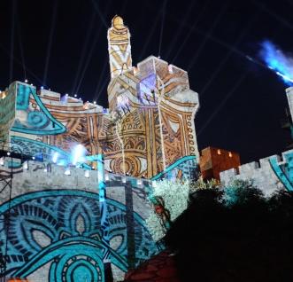 Epson in AVS sta pripravila projekcijo svetlobne predstave na zidove starega mesta Jeruzalem