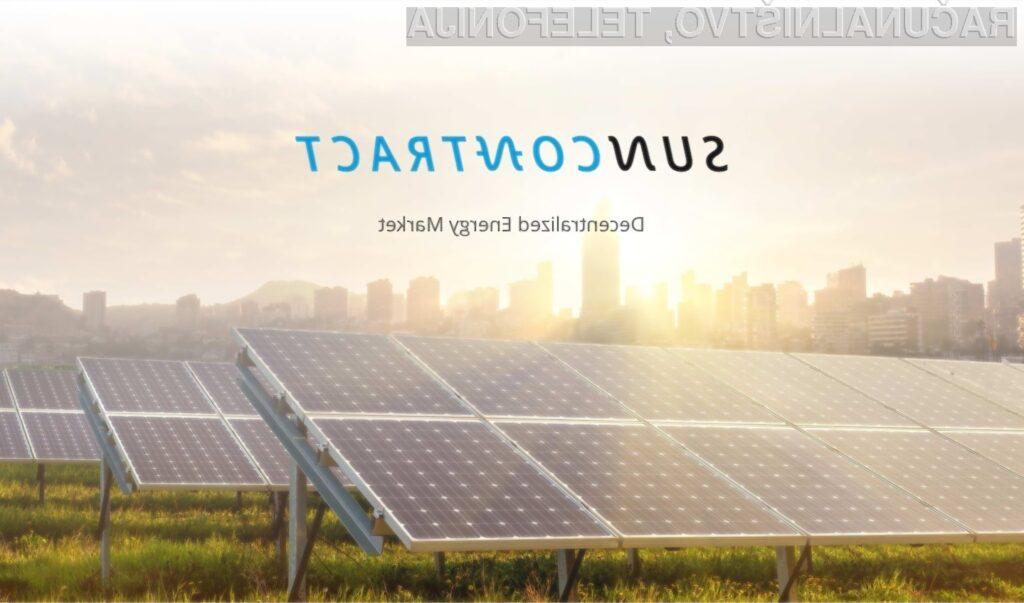 SunContract – trgovanje z električno energijo na blockchainu