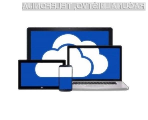 Oblačna storitev OneDrive podpira le še Microsoftov datotečni sistem NTFS.