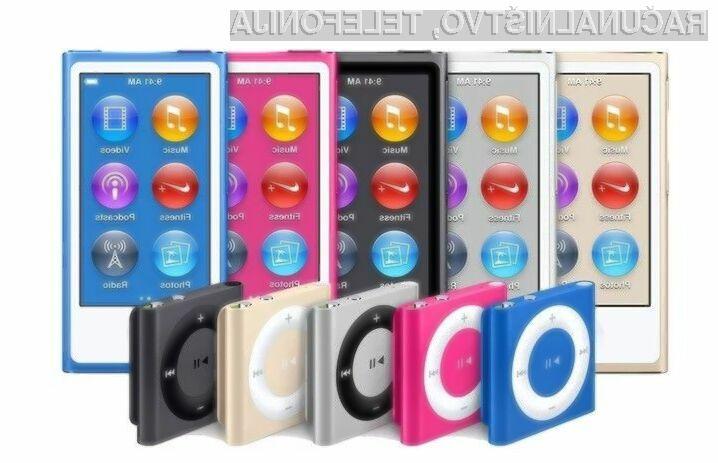 Apple ustavil prodajo naprav iPod Nano in Shuffle