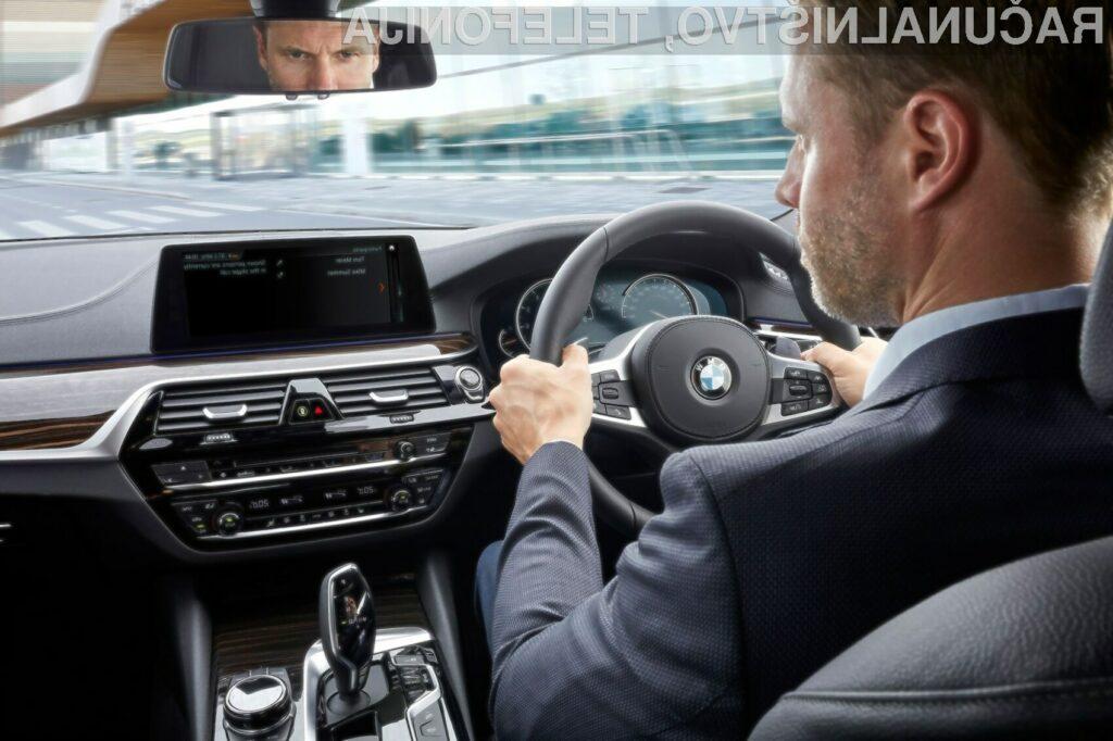 Vozniki avtomobilov BMW imajo sedaj možnost uporabe komunikacijske programske opreme Skype for Business.