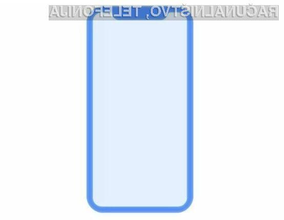 Zaslon telefona iPhone 8 naj bi bil skorajda brez robov, z izjemo vrhnjega dela.