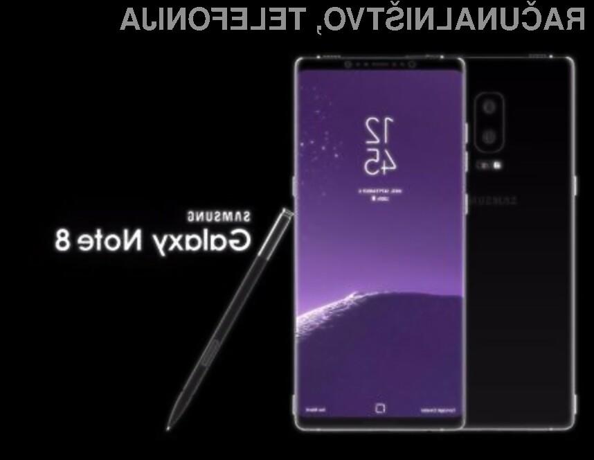 Od pametnega telefona Samsung Galaxy Note 8 se pričakuje veliko!