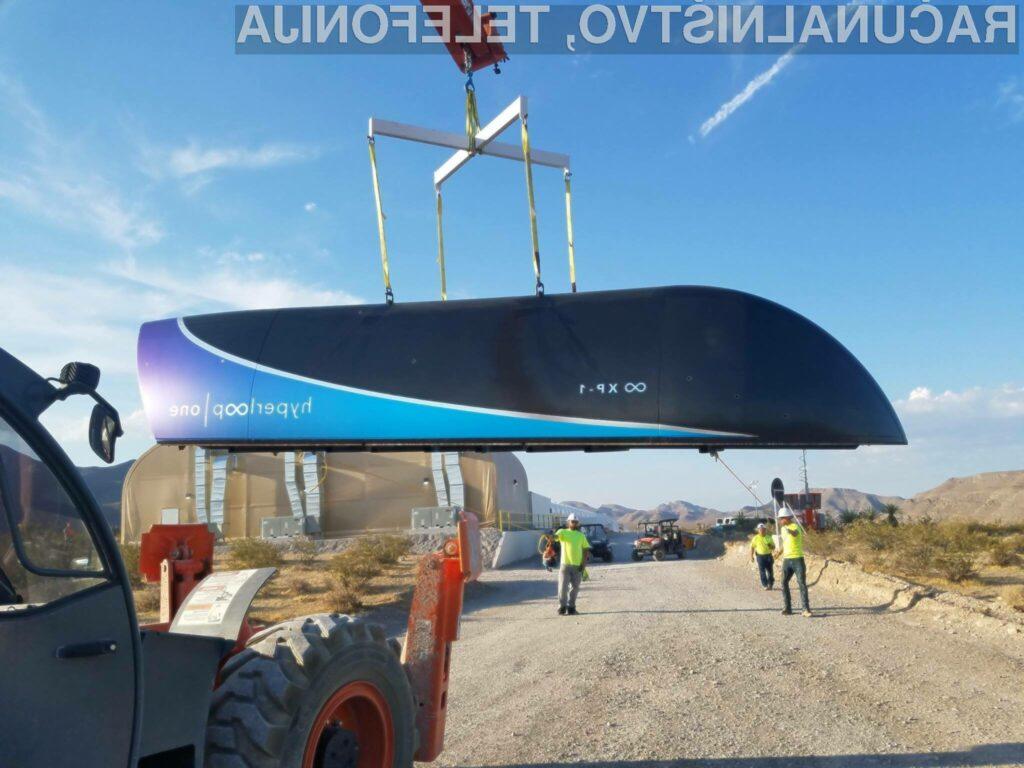 Izjemen dosežek za supervozilo Hyperloop One