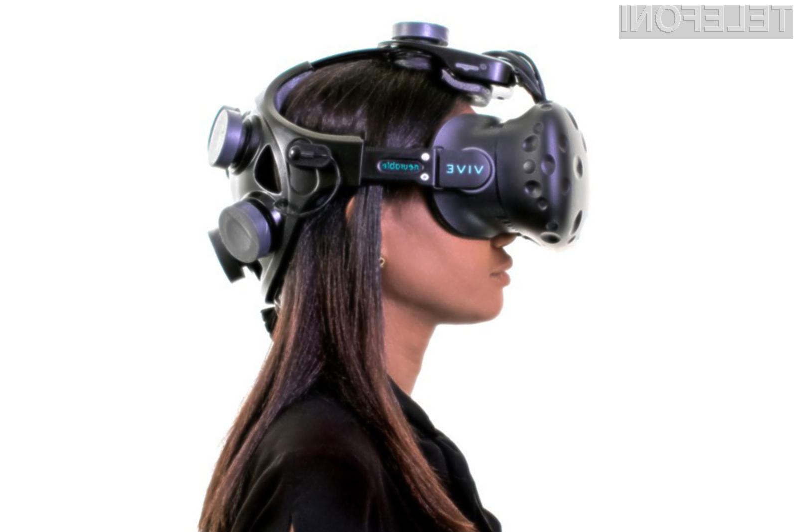 Večpredstavnostna očala HTC Vive v navezi z merilniki možganskih valov podjetja Neurable izgledajo naravnost fantastično.