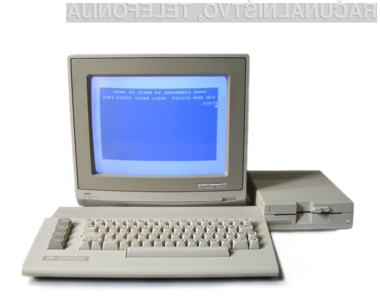 Hišni računalnik Commodore 64 se je prvič pojavil na trgu leta 1982.