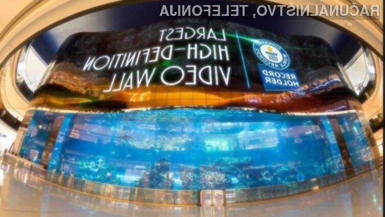 Največji zaslon OLED je pristal celo v Guinnessovi knjigi rekordov.