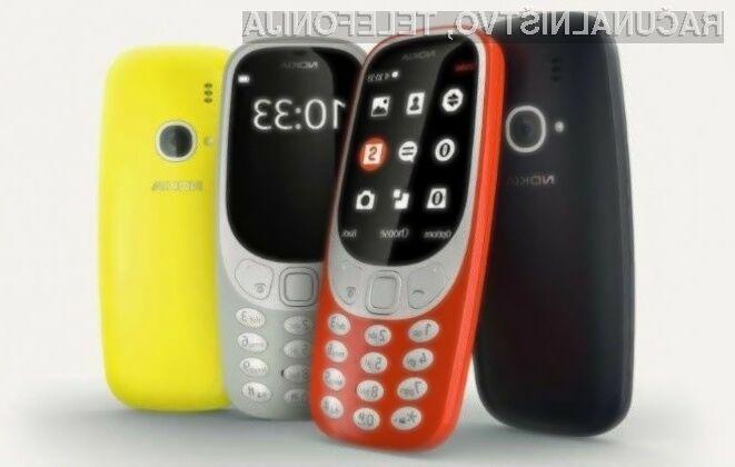 Prenovljena Nokia 3310 bo prinesla podporo za omrežje 3G!