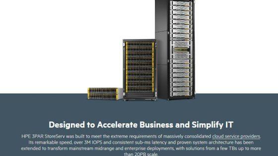 HPE 3PAR diskovni sistemi izpopolnjeni v nov krog