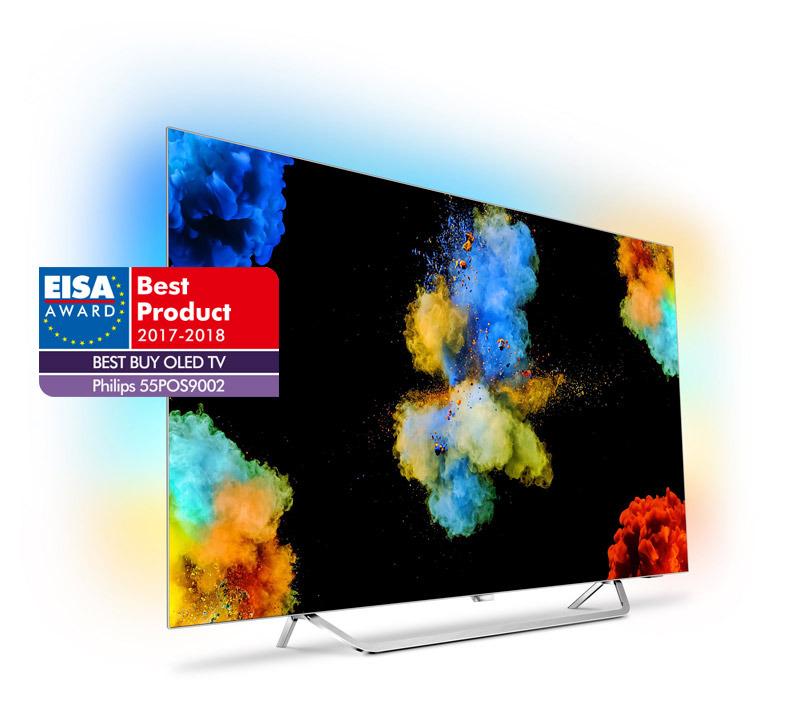 Philipsov najnovejši model OLED-televizorja 55POS9002 je bil za leto 2017-2018 izglasovan kot »Najboljši nakup v kategoriji OLED TV«