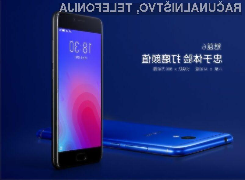 Pametni mobilni telefon Meizu M6 za malo denarja ponuja veliko!