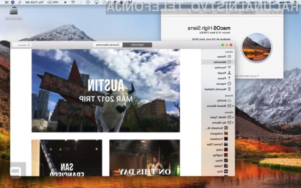 Novi Apple macOS High Sierra bo na voljo za prenos povsem brezplačno!