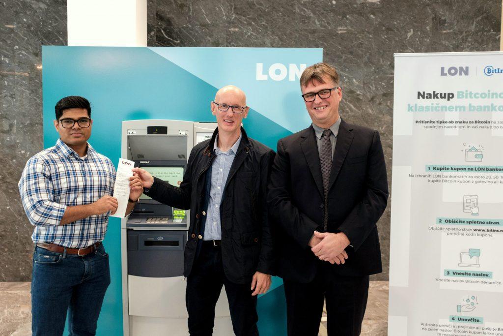 Od leve proti desni: Ram Budime, direktor podjetja Bitins Ltd,  Aleš Merčun, vodja razvoja Keas d. o. o.,  in dr. Jaka Vadnjal, predsednik uprave LON-a.