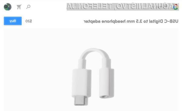 Za Googlov adapter za slušalke bo treba odšteti kar 20 evrov!