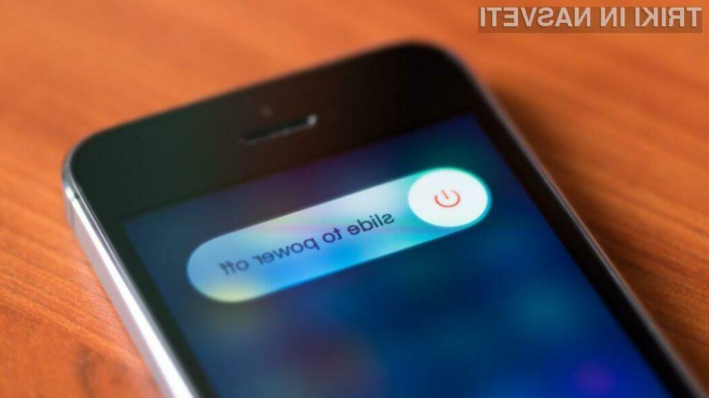 Applove naprave z iOS 11 lahko izključimo kar z uporabo zaslona!