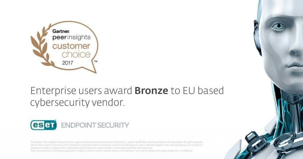 ESET prejel bronasto Gartnerjevo nagrado