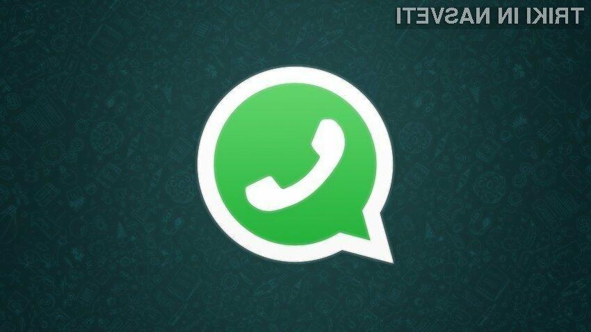 WhatsApp sedaj omogoča tudi brisanje že poslanih sporočil!