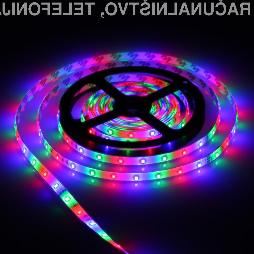 Okrasite svoj računalnik z LED svetlobnim trakom